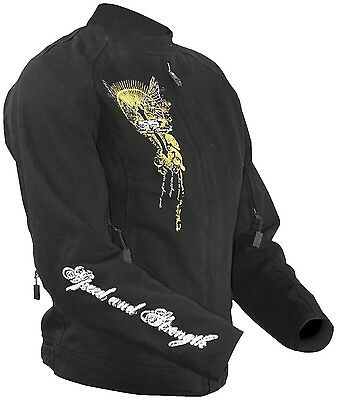 Women's Speed and Strength Tough Love Motorcycle Street Jacket Black XS S M L