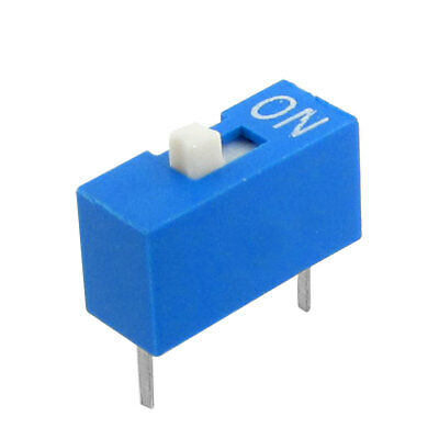 10 Pcs 1 Position 2 Terminals Side Style DIP Switch Blue