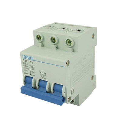 Triple Pole Rated Current 63A Mini Air Circuit Breaker