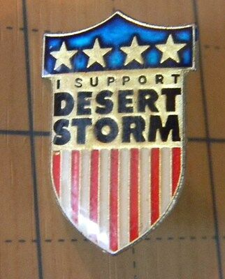 U.S. Army  military I support Desert Storm novelty Lapel / hat pin