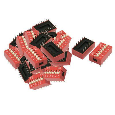 28 Pcs 2.54mm Pitch 6 Position Slide Style DIP Switch Lglgf