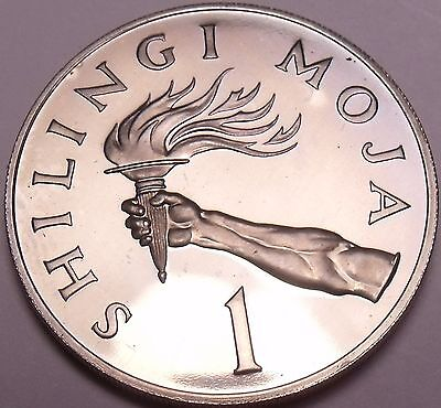 Rare Proof Tanzania 1966 Shilingi~5,500 Minted~The Torch~Excellent~Free Shipping