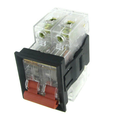 AC 400V 16A 2P Transparent Miniature Circuit Breaker with Mounting Bracket