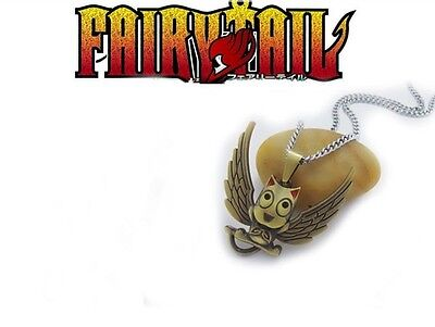 1X Anime Fairy Tail Happy Cosplay Props Metal Pendant Necklace