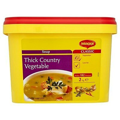 Maggi Classic Thick Country Vegetable Soup  2Kg Catering Pack