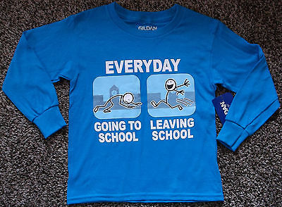 NWT Boys Lightweight Long Sleeve School Shirt Size 4/5