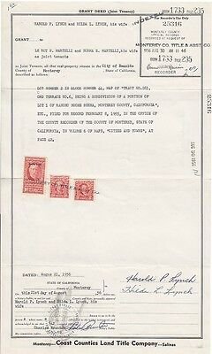 Seven 1950s Deeds With Document Stamps