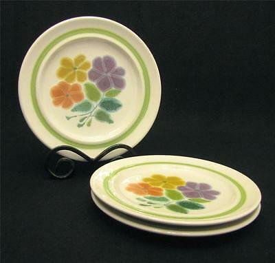 Franciscan FLORAL (USA) Set of 3 Salad Plates ~ XLNT Pre-Owned Condition
