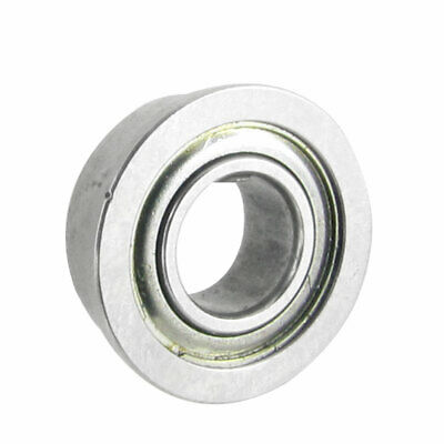 10mm x 5mm x 4mm Radial Shielded Deep Groove Flanged Ball Bearing Silver Tone