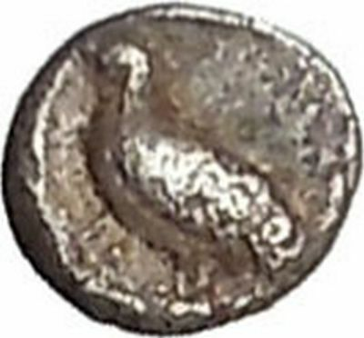 MILETOS in IONIA 6th-5thCenBC Tetartemorion Eagle Lion Silver Greek Coin i41506