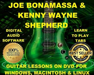 Joe Bonamassa 125 & Kenny Wayne Shepherd 50 Guitar Tabs Software Lesson CD 26 BT