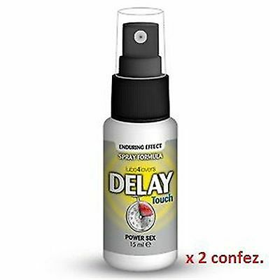2 Spray Ritardante Delay Touch Eiaculazione Precoce Spray 15 Ml
