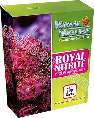 Royal Nature Nitrite Pro Test Kit, Marine Aquarium, Reef, Coral, 100 Tests
