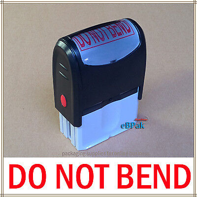 Large - DO NOT BEND -  Pre-Inked Stamp for Bubble Envelope Rigid Mailer in RED