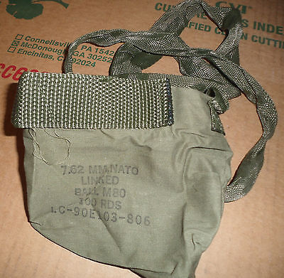 Lot of 2 Ammo Pouch 7.62 mm Nato Linked Ball M80  LC-90E103-806 Bandoleir