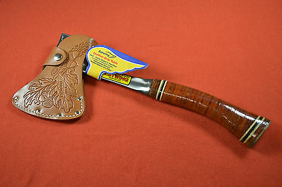 Estwing No. 1  Axe Rockford ILL. USA Made with Leather Sheath Forged Ax