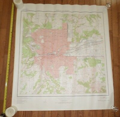 Fantastic, very large colored map of Sporkane (1950) Scarce!