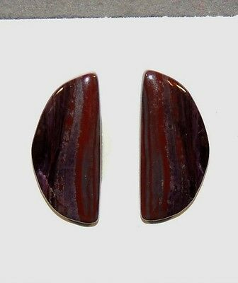Sugilite Cabochons Pair 25x11mm from South Africa  (7471)
