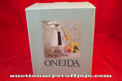 Oneida Beverage Pitcher 2 Quarts Silverplated made in USA