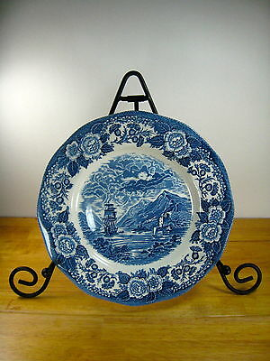 Lochs of Scotland DINNER PLATE (S) by Royal Warwick Blue and White
