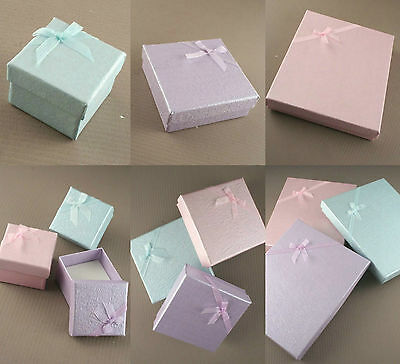 Coloured Jewellery Gift Boxes Bag Necklace Bracelet Ring Set Small Wholesale