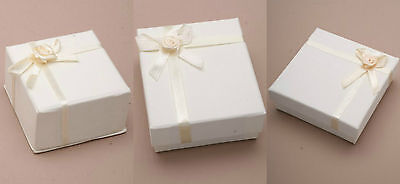 Cream Jewellery Gift Boxes Bag Necklace Bracelet Ring Set Small Wholesale