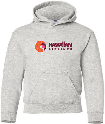 Hawaiian Airlines Retro US Pacific Island Airline Logo HOODY