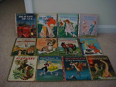13 Vintage Little Golden Books
