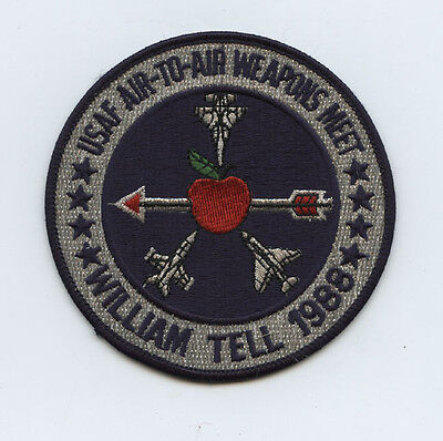 Real 1988 USAF William Tell Air To Air Weapons Meet Patch