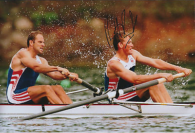 Matthew PINSENT RARE Signed Photo Autograph AFTAL COA British Rowing Athens 2004