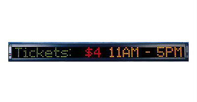"""New! Color LED Programmable Scrolling Message Display Sign 38""""x4"""" FREE SHIPPING!"""