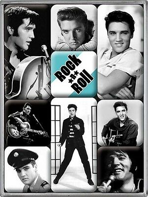 Nostalgic-Art - 9-teiliges Magnet-Set in der Box - Elvis Set