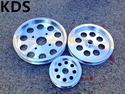 Underdrive pulley FOR Nissan Skyline R32 R33 R34 RB20 RB25 RB26 3PCS Polished