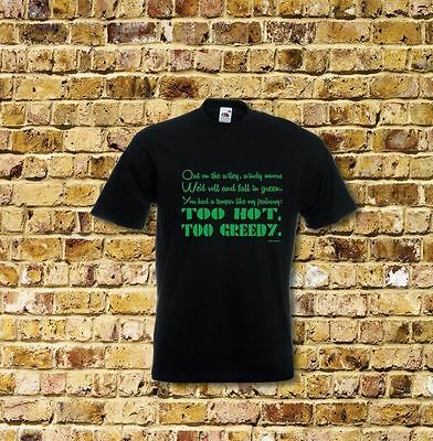 Kate Bush Wuthering Heights Lyrics  T Shirt New Black or White