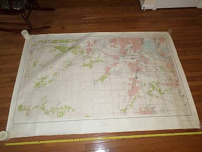 Fantastic, very large colored map of Chicago, IL/IN (1953) Scarce!