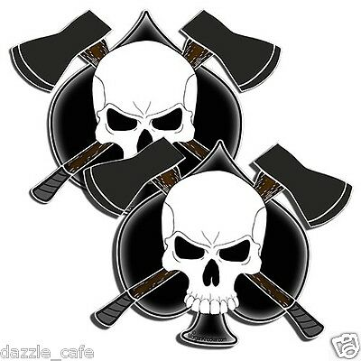"Logger's Crossbones Decal sticker arborist forestry chainsaw AXE 5"" skull 1220"