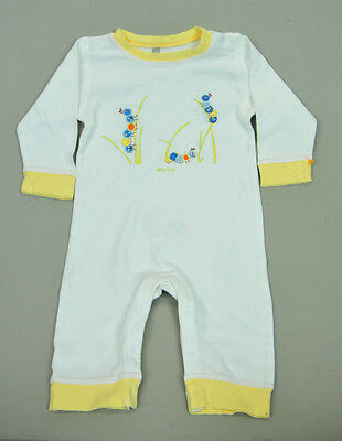 VTG baby embroidered caterpillar white yellow romper sz 6-12M by GAP