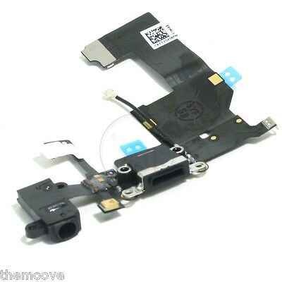 New Charge Charging Port USB Connector Flex Cable for iPhone 5 Black REPLACEMENT