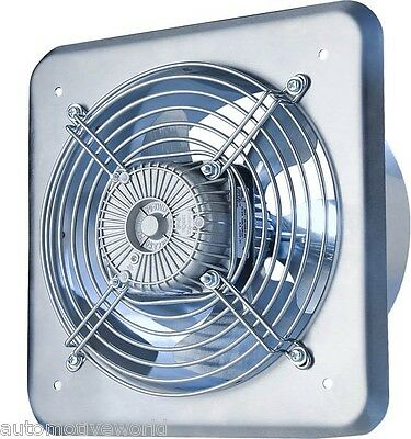 """Metal Industrial Extractor Fan Ducting 210mm / 8.25"""" 470m3/h Commercial WOC210"""