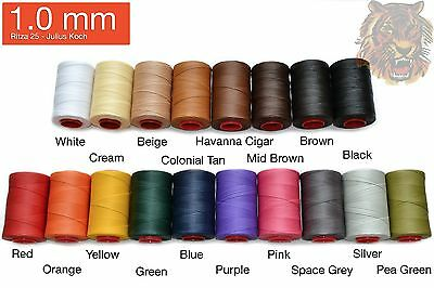 "1.0mm Ritza ""Tiger"" Thread Many Colors - Leather hand sewing (25M/82ft)"