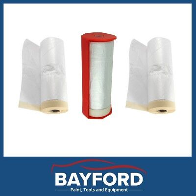 Plastic Masking Film/roll-Adhesive Edge/tape-Drop Sheet 3 Rolls-33 Mtr X 1.78Mtr