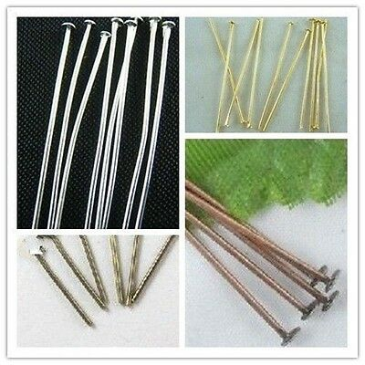 Wholesale 100pcs Silver/Golden/Bronze/Copper Plated Head Pins Needles Finding