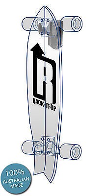 Rack It Up Vertical Skateboard Storage Rack Hook Garage Wall Mount Longboard