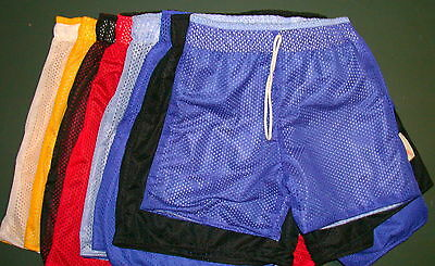 Basketball Mesh Shorts or Long Tearaway Warmup Pants Single Colour or Reversible