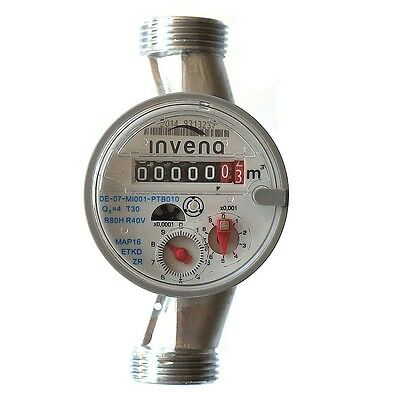 INVENA Water meter for House and Garden various connectors 4m3/h ANTIMAGNETIC