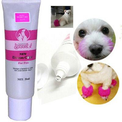 cute pink color dog hair dye 50g Harmless pet dye!natural fruit hit item
