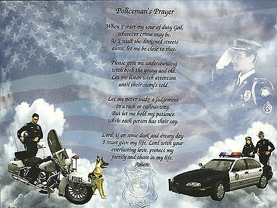 Police Officer's Prayer Poem Print