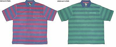 Louie James Cotton Rich Pique Striped Polo Shirt(102)Size 2X-6Xl,2 Colors Option