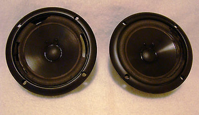 (2) INFINITY WOOFER 902-5233 IMG Injection Molded Graphite (NEEDS NEW FOAM)