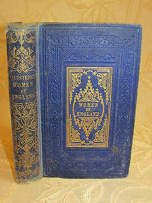 Antique Book Lives Of Illustrious Women Of England Or Biographical Treasury-1857